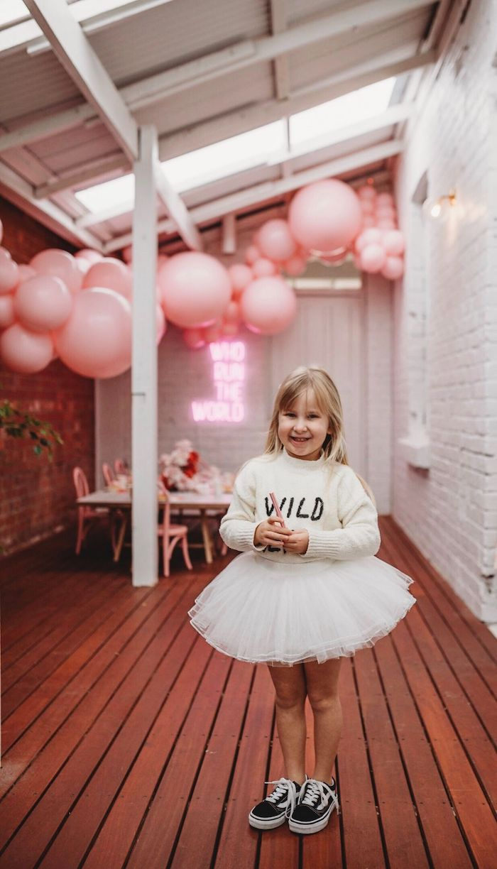 Sporty Swan Tutu Attire from a Modern + Pink Girls Run the World Birthday Party on Kara's Party Ideas | KarasPartyIdeas.com (26)