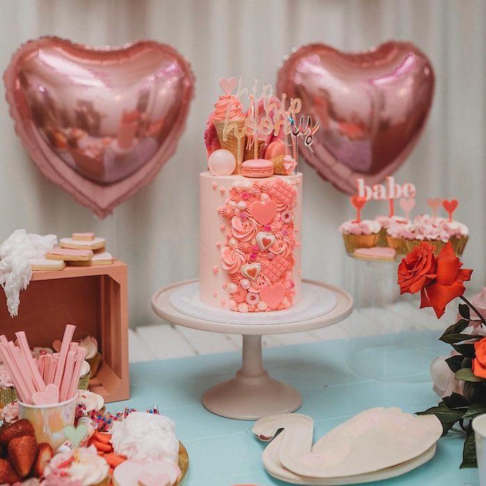Girly Glam Birthday Cake from a Modern + Pink Girls Run the World Birthday Party on Kara's Party Ideas | KarasPartyIdeas.com (22)