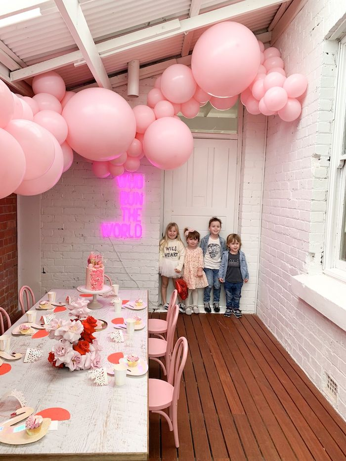 Modern + Pink Girls Run the World Birthday Party on Kara's Party Ideas | KarasPartyIdeas.com (21)
