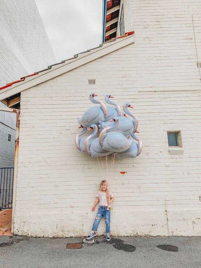 Swan Balloon Bunch from a Modern + Pink Girls Run the World Birthday Party on Kara's Party Ideas | KarasPartyIdeas.com (20)
