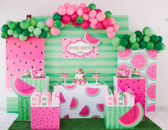 ONE in a MELON Modern Watermelon Birthday Party on Kara's Party Ideas | KarasPartyIdeas.com (32)