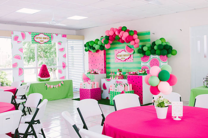 ONE in a MELON Modern Watermelon Birthday Party on Kara's Party Ideas | KarasPartyIdeas.com (6)