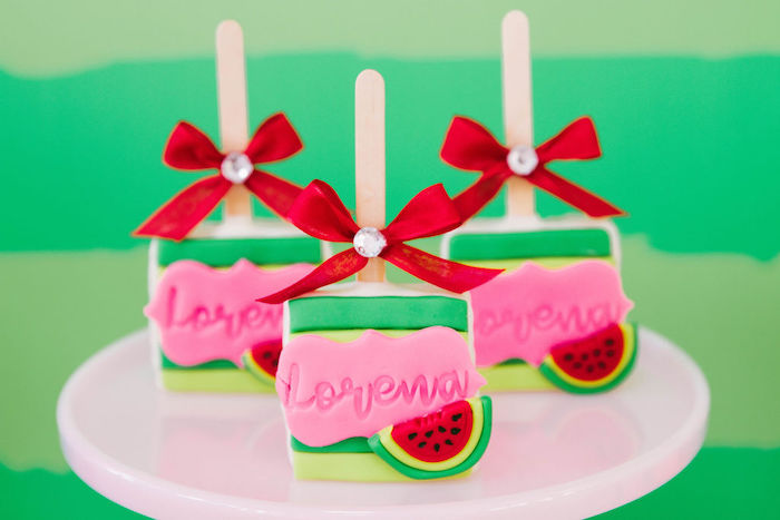 Watermelon-inspired Treats from a ONE in a MELON Modern Watermelon Birthday Party on Kara's Party Ideas | KarasPartyIdeas.com (27)