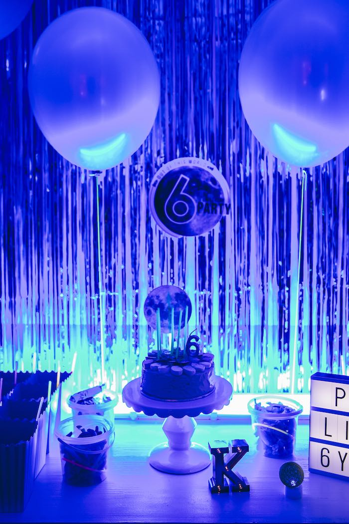Outer Space Glow-in-the-Dark Birthday Party on Kara's Party Ideas | KarasPartyIdeas.com (29)