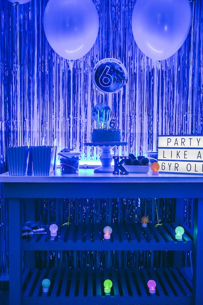 Outer Space Glow-in-the-Dark Birthday Party on Kara's Party Ideas | KarasPartyIdeas.com (21)