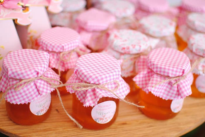 Favor Jars from a Pastel Woodland Baby Shower on Kara's Party Ideas | KarasPartyIdeas.com (24)