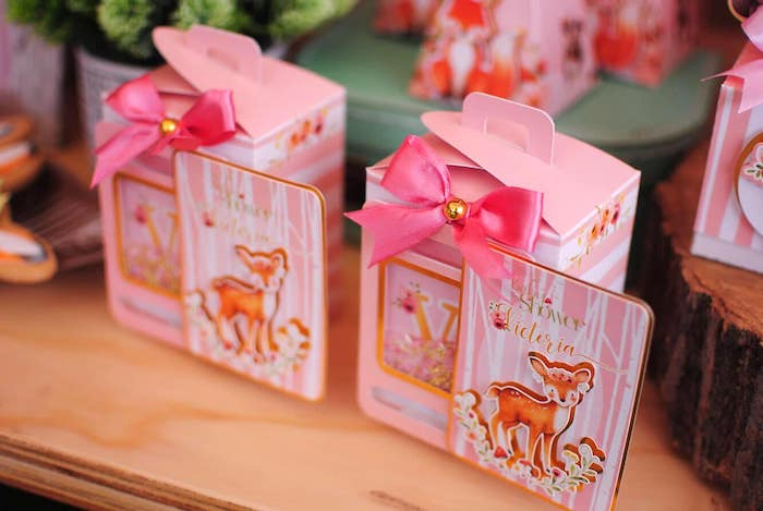 Woodland Favor Boxes from a Pastel Woodland Baby Shower on Kara's Party Ideas | KarasPartyIdeas.com (29)