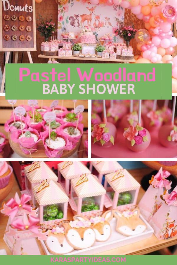 Pastel Woodland Baby Shower via KarasPartyIdeas - KarasPartyIdeas.com
