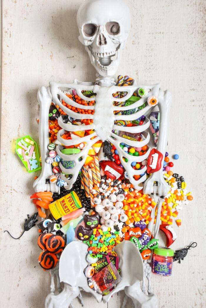 Kara S Party Ideas Halloween Skeleton Candy Charcuterie Board Kara S Party Ideas