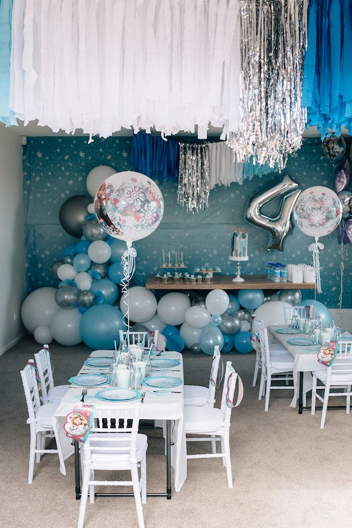 Stylish Frozen Birthday Party on Kara's Party Ideas | KarasPartyIdeas.com (26)