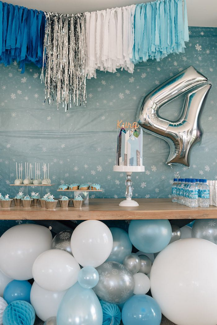 Frozen Themed Dessert Table from a Stylish Frozen Birthday Party on Kara's Party Ideas | KarasPartyIdeas.com (18)