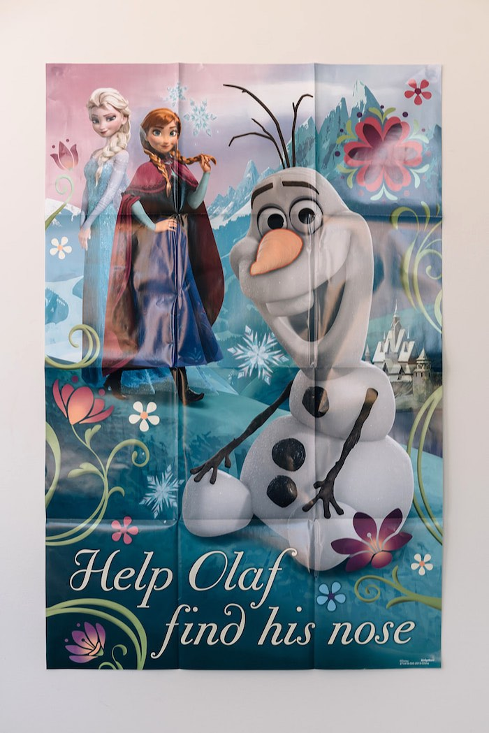 Help Olaf Find His Nose Game from a Stylish Frozen Birthday Party on Kara's Party Ideas | KarasPartyIdeas.com (15)