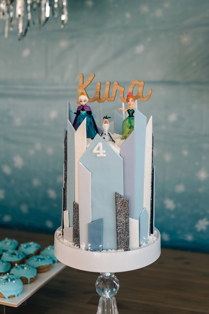Frozen Cake from a Stylish Frozen Birthday Party on Kara's Party Ideas | KarasPartyIdeas.com (12)