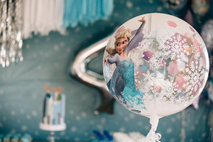Elsa Balloon from a Stylish Frozen Birthday Party on Kara's Party Ideas   KarasPartyIdeas.com (11)