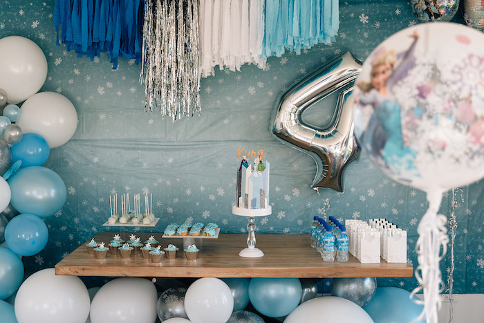 Frozen Themed Dessert Table from a Stylish Frozen Birthday Party on Kara's Party Ideas | KarasPartyIdeas.com (10)