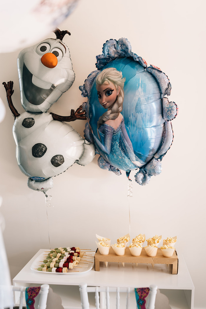 Minimalist Frozen Themed Dessert Table from a Stylish Frozen Birthday Party on Kara's Party Ideas | KarasPartyIdeas.com (9)