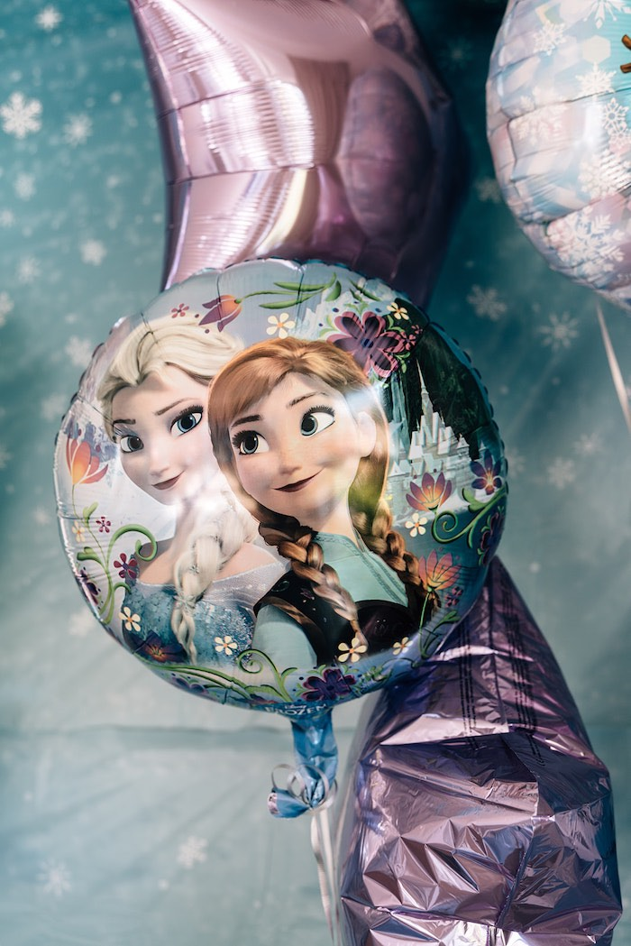 Mylar Frozen Balloon from a Stylish Frozen Birthday Party on Kara's Party Ideas   KarasPartyIdeas.com (7)