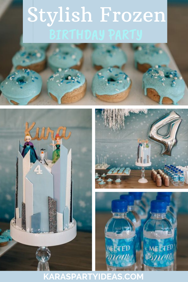 Stylish Frozen Birthday Party via Kara's Party Ideas - KarasPartyIdeas.com
