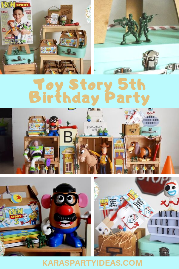 Toy Story 5th Birthday Party via Kara's Party Ideas - KarasPartyIdeas.com