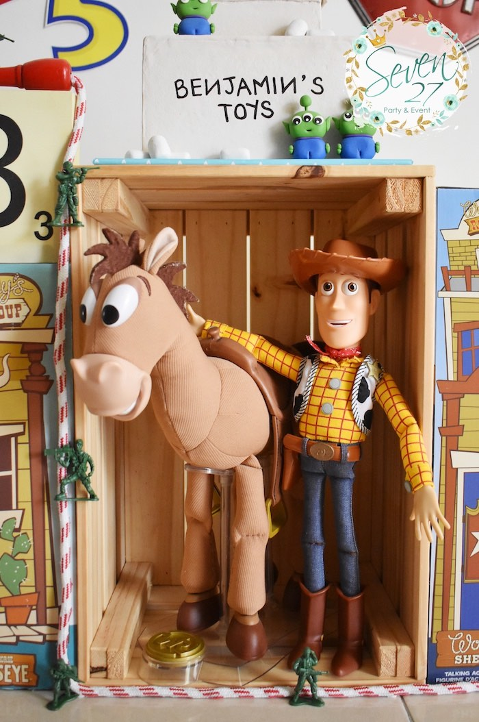 Woody & Bullseye Props from a Toy Story Birthday Party on Kara's Party Ideas | KarasPartyIdeas.com (18)