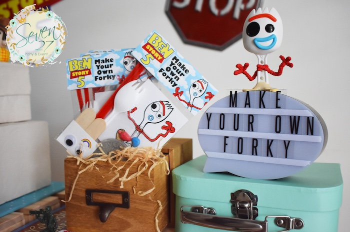 Make Your Own Forky - Craft from a Toy Story Birthday Party on Kara's Party Ideas | KarasPartyIdeas.com (16)