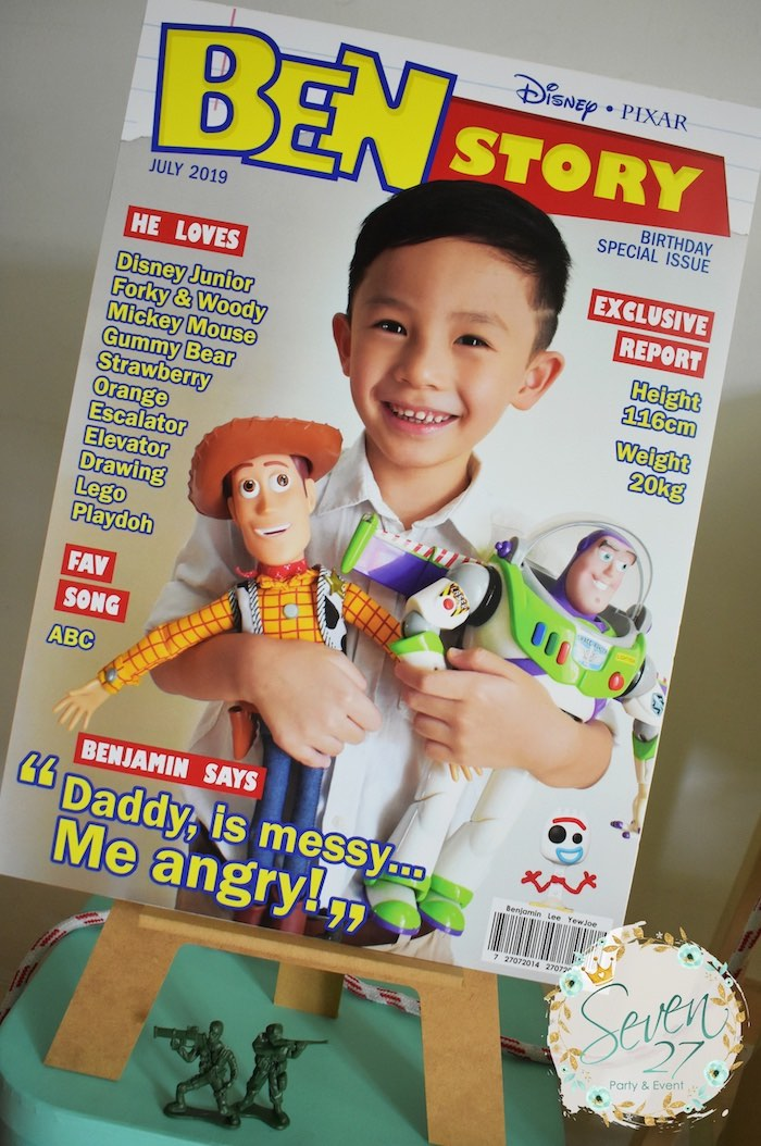 Magazine Highlight Board from a Toy Story Birthday Party to Kara's Party Ideas | KarasPartyIdeas.com (12)