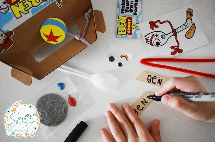 Forky Craft from a Toy Story Birthday Party to Kara's Party Ideas | KarasPartyIdeas.com (8)