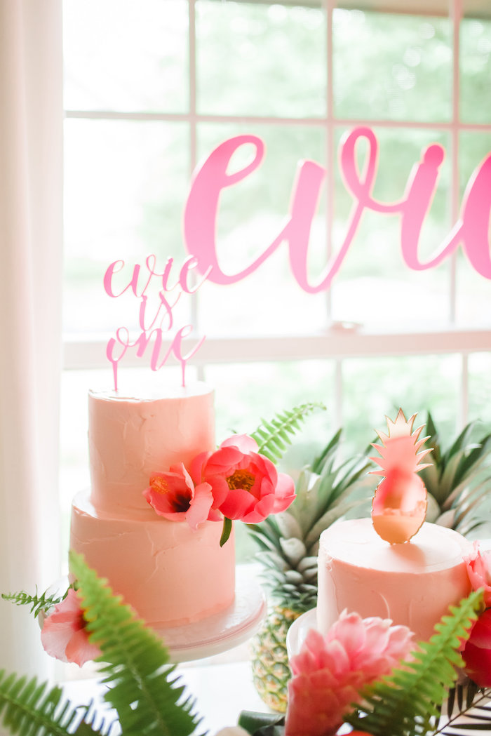 Pink Flamingo Themed Cakes from a Tropical Flamingo Birthday Party on Kara's Party Ideas | KarasPartyIdeas.com (24)