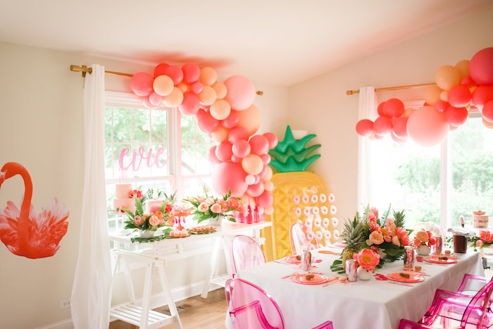 Tropical Flamingo Birthday Party on Kara's Party Ideas | KarasPartyIdeas.com (23)