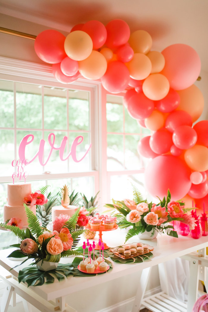 Flamingo Party Table from a Tropical Flamingo Birthday Party on Kara's Party Ideas | KarasPartyIdeas.com (19)