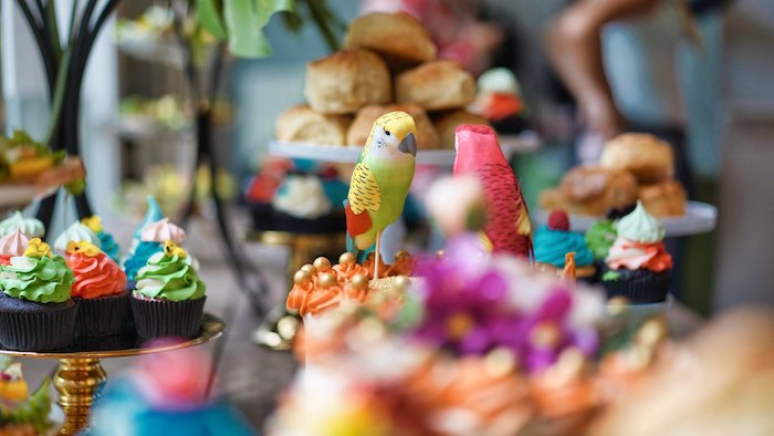 Bird Decorations + Dessert Toppers from a Tropical Garden High Tea on Kara's Party Ideas | KarasPartyIdeas.com (10)