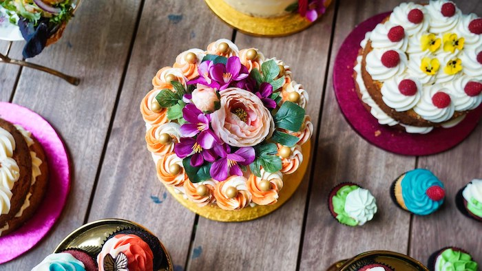 Tropical Cake Top from a Tropical Garden High Tea on Kara's Party Ideas | KarasPartyIdeas.com (7)