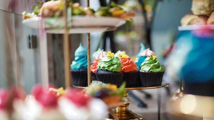 Colorful Cupcakes from a Tropical Garden High Tea on Kara's Party Ideas | KarasPartyIdeas.com (4)