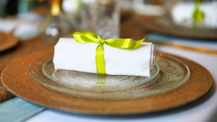 Gold Coaster Table Setting from a Tropical Garden High Tea on Kara's Party Ideas | KarasPartyIdeas.com (14)