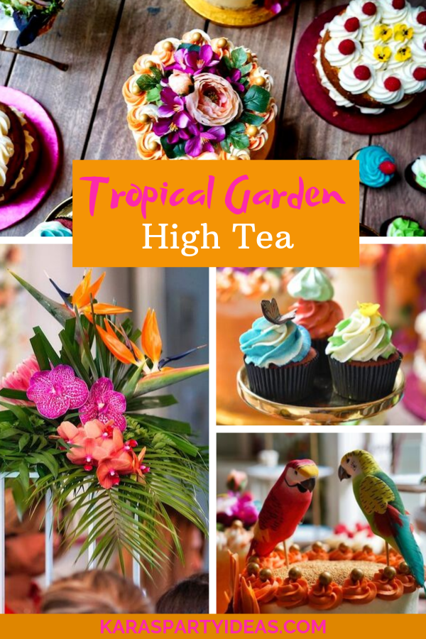 Tropical Garden High Tea via Kara's Party Ideas - KarasPartyIdeas.com
