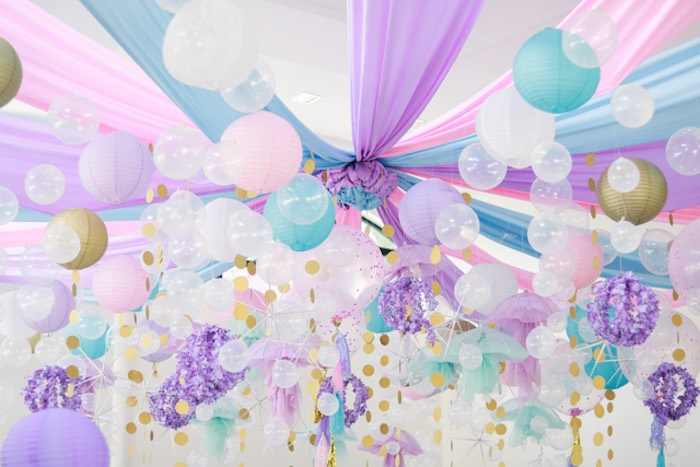 Under the Sea Party Ceilingscape from an Under the Sea Birthday Party on Kara's Party Ideas | KarasPartyIdeas.com (26)