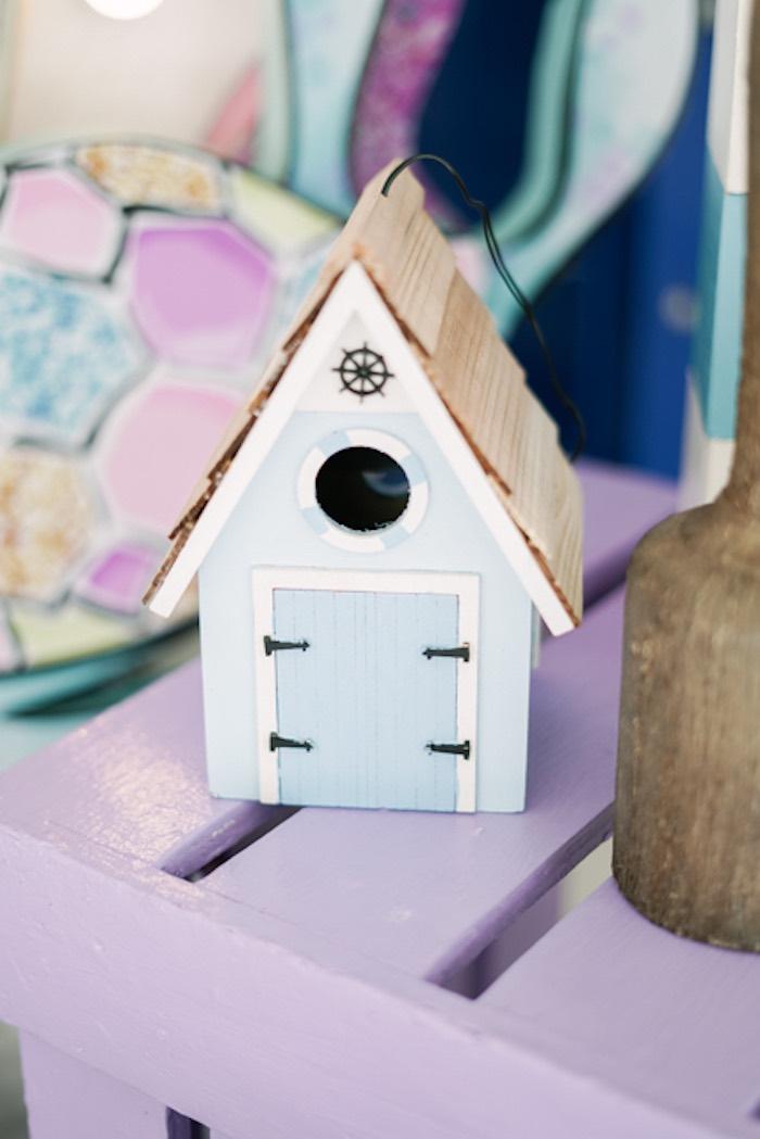 Bird House from an Under the Sea Birthday Party on Kara's Party Ideas | KarasPartyIdeas.com (16)