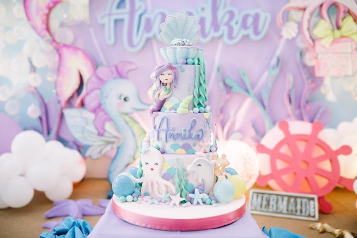 Under the Sea Themed Cake from an Under the Sea Birthday Party on Kara's Party Ideas | KarasPartyIdeas.com (9)