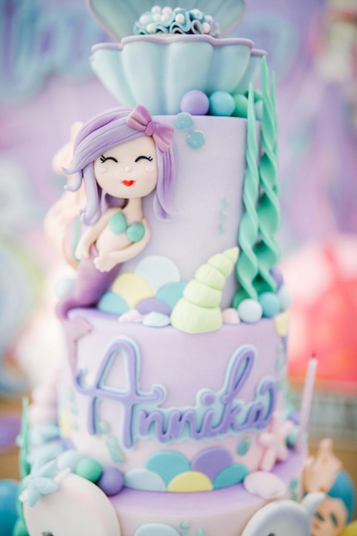 Under the Sea Cake from an Under the Sea Birthday Party on Kara's Party Ideas | KarasPartyIdeas.com (8)