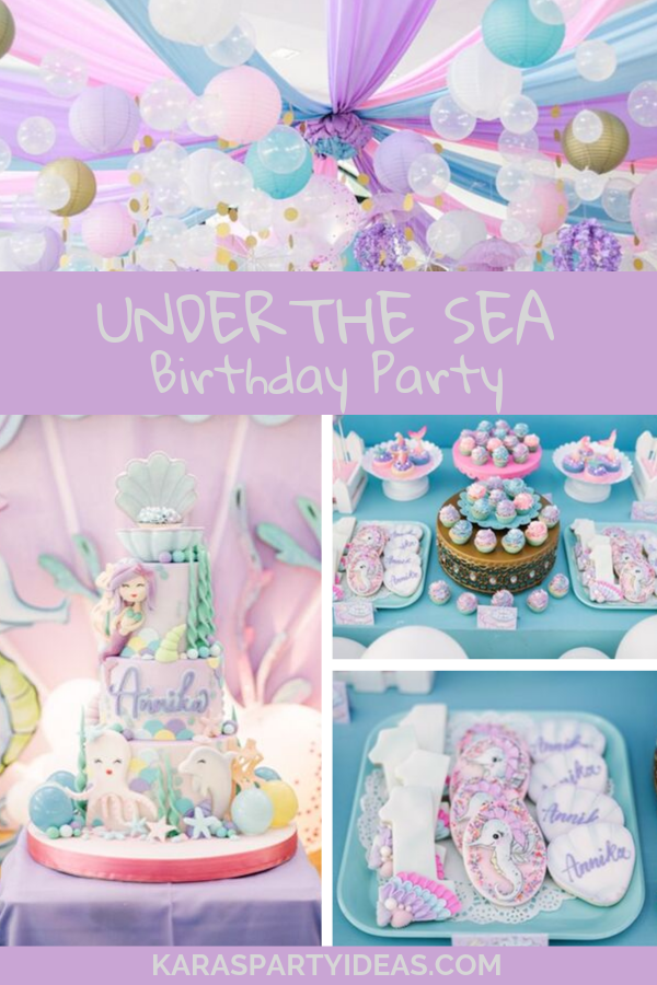 Under the Sea Birthday Party via Kara's Party Ideas - KarasPartyIdeas.com