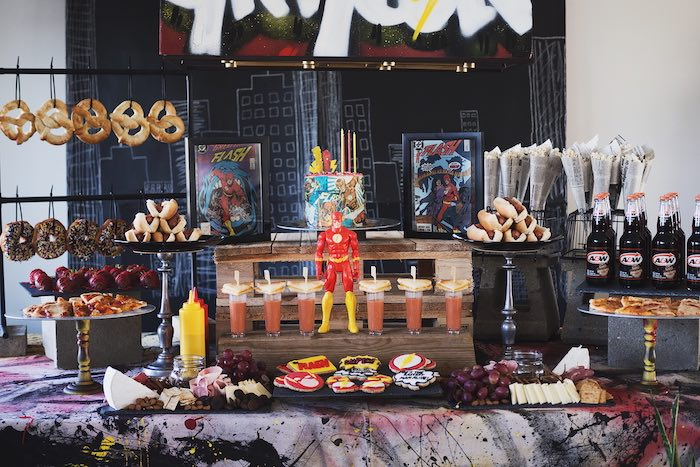 Urban Superhero Birthday Party on Kara's Party Ideas | KarasPartyIdeas.com (9)
