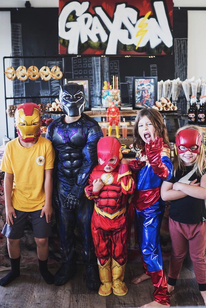 Urban Superhero Birthday Party on Kara's Party Ideas | KarasPartyIdeas.com (8)