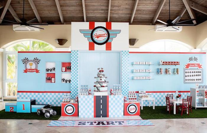 Vintage Grand Prix Birthday Party on Kara's Party Ideas | KarasPartyIdeas.com (26)