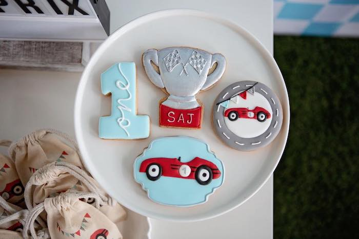 Vintage Car Cookies from a Vintage Grand Prix Birthday Party on Kara's Party Ideas | KarasPartyIdeas.com (7)
