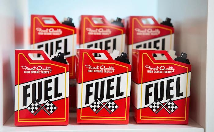 Fuel Favor Boxes from a Vintage Grand Prix Birthday Party on Kara's Party Ideas | KarasPartyIdeas.com (22)
