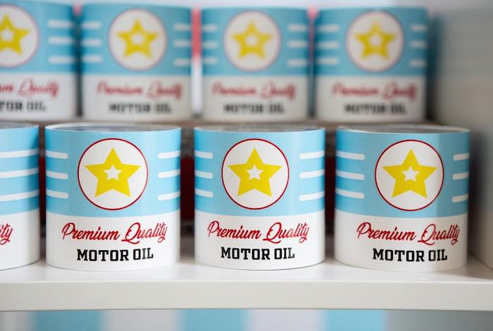 Motor Oil Favor Tins from a Vintage Grand Prix Birthday Party on Kara's Party Ideas | KarasPartyIdeas.com (18)