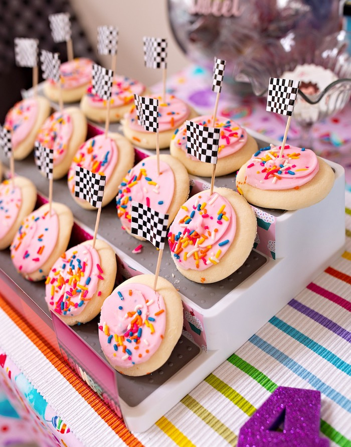 Racetrack Cookies from a Wreck-it-Ralph Birthday Party on Kara's Party Ideas | KarasPartyIdeas.com (30)