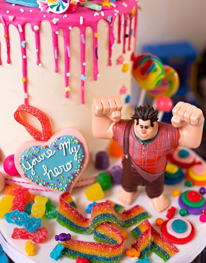 Wreck-it-Ralph Birthday Cake from a Wreck-it-Ralph Birthday Party on Kara's Party Ideas | KarasPartyIdeas.com (28)