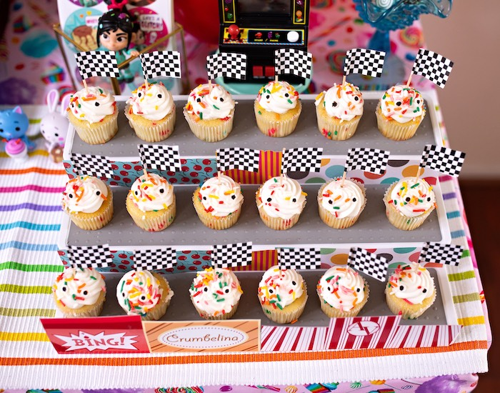 Racetrack Cupcakes from a Wreck-it-Ralph Birthday Party on Kara's Party Ideas | KarasPartyIdeas.com (27)