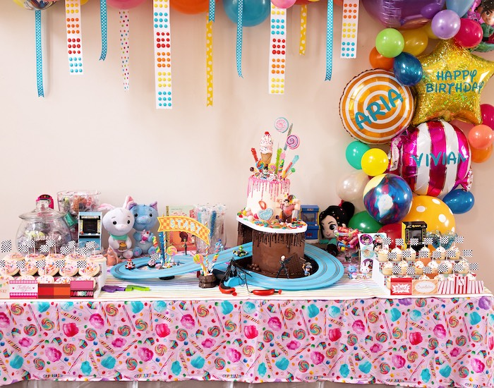 Wreck-it-Ralph Themed Dessert Table from a Wreck-it-Ralph Birthday Party on Kara's Party Ideas | KarasPartyIdeas.com (25)